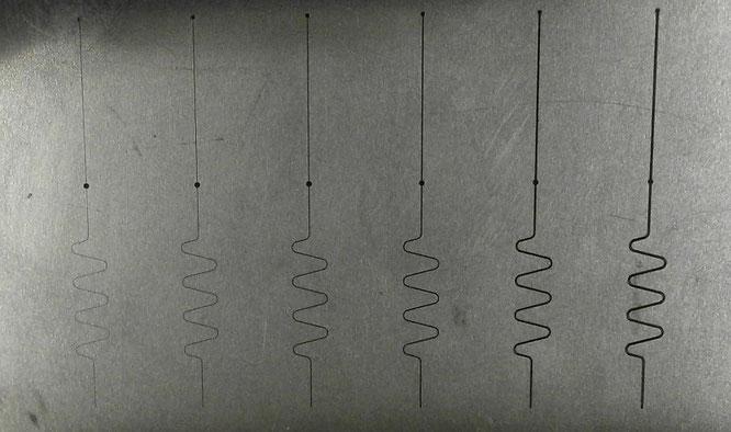 油加工で使用する、ワイヤー線一覧