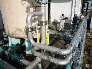 浄水場 配管工事