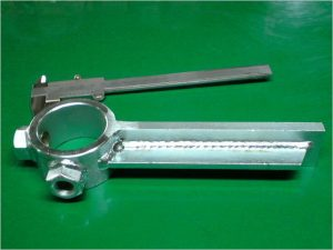 溶接加工 鉄 フラットバー ユニクロ 全工程弊社にて承りました。