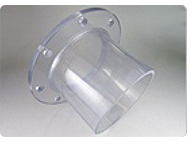 透明溶接フランジ