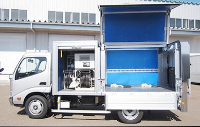 【供給中の排ガス・CO2ゼロ】 オイル供給車