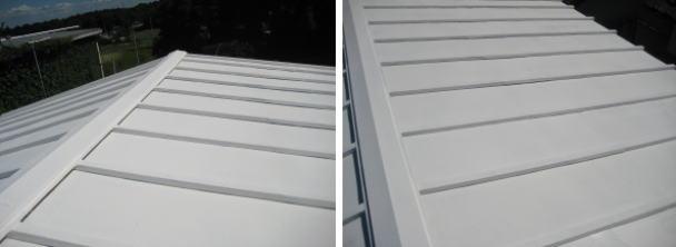 暑さ対策にトタン屋根(瓦棒)に塗装