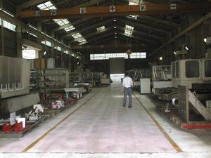 NC横中ぐり盤工場