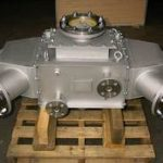 強化ガラス点検口付き熱交換器
