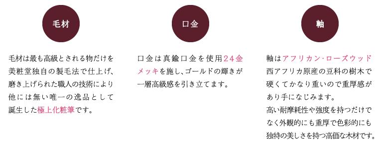 極上化粧筆 BISYODOシリーズ