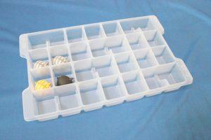 積み重ね防止用に使われるトレー