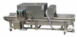 高圧ノンブラシ式コンテナ洗浄装置